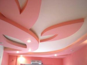 современные потолки из гипсокартона