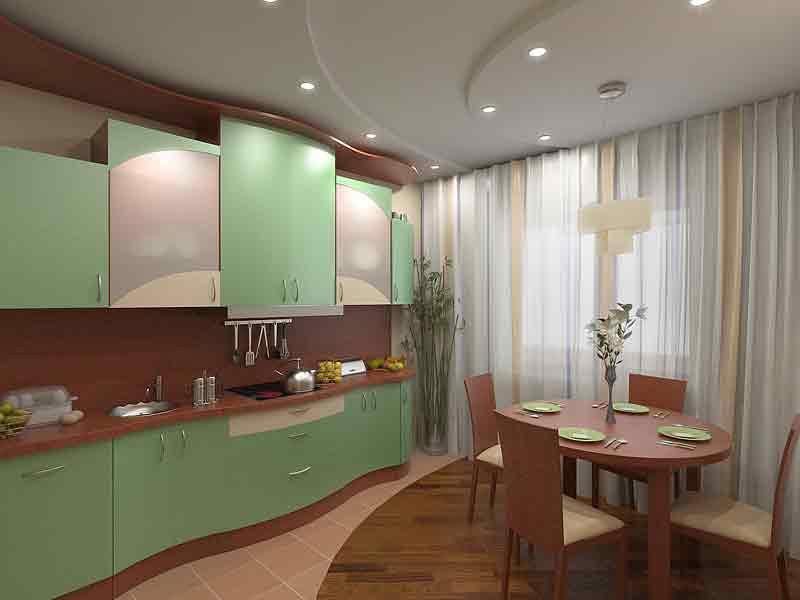 Дизайн потолков кухни 9 кв.м фото