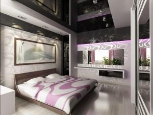 Потолок в спальне - фото