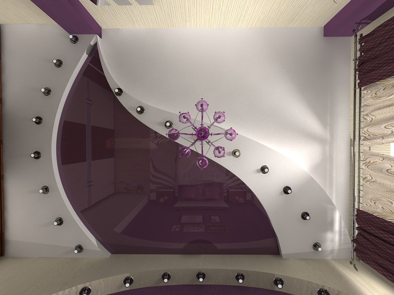 Потолок для спальни своими руками фото