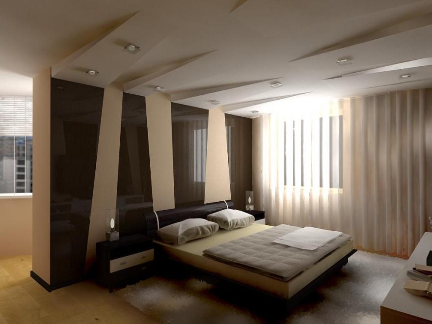 Как визуально сделать потолки ниже