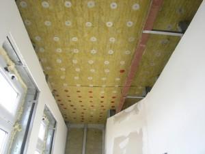 минеральная вата на потолке