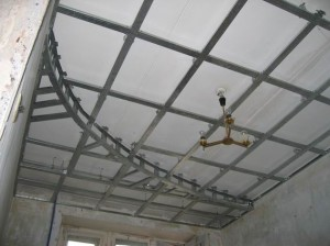 Как сделать каркас для натяжного потолка своими руками 85