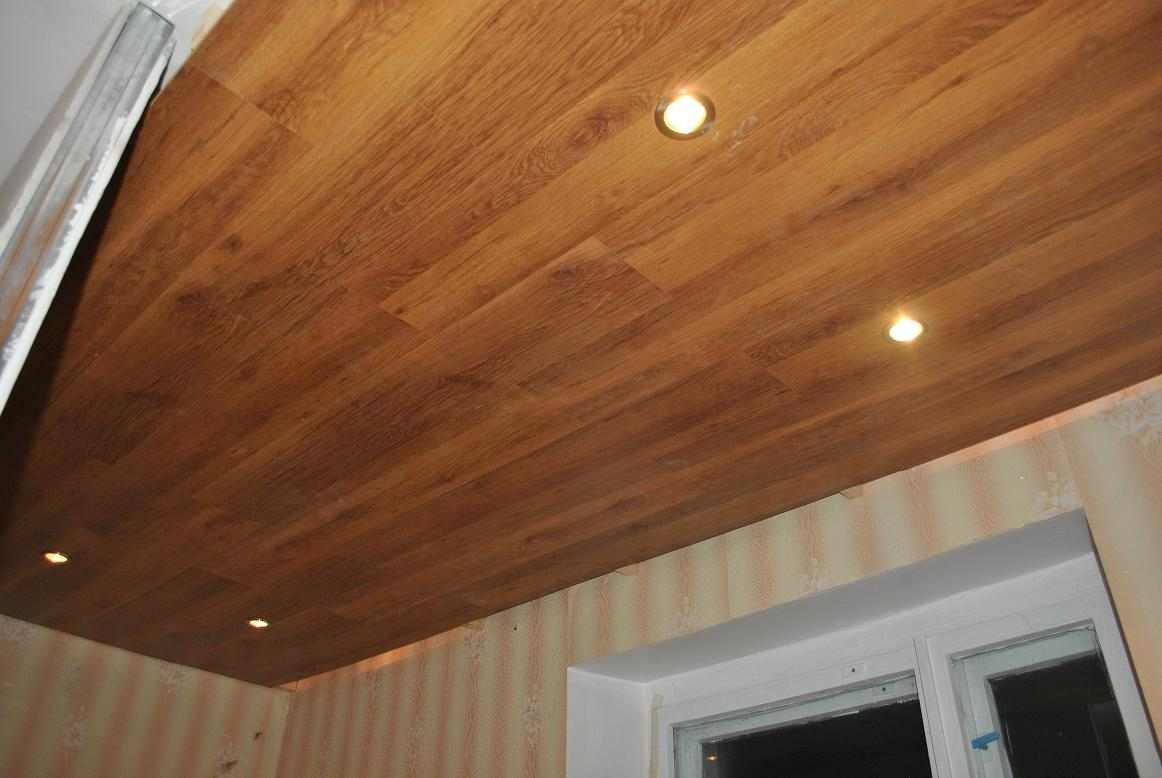 Потолок из ламината как сделать