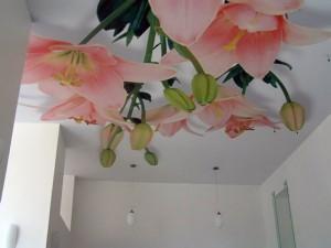 3d цветы на потолке