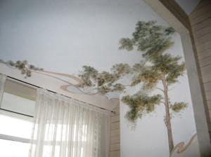 фотообои на стене и потолке