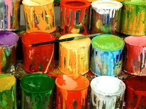 различные цвета краски