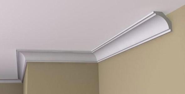 Из каких материалов делают багет для потолка